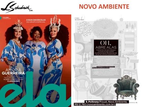 NOVO AMBIENTE na revista ELA, do Jornal O Globo, em 3 de março de 2019 - parte 1