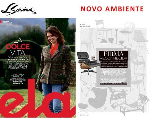 NOVO AMBIENTE na revista ELA, do Jornal O Globo, em 31 de março de 2019