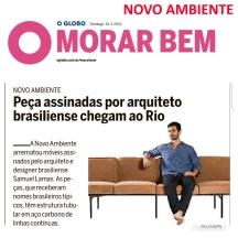 NOVO AMBIENTE no caderno MORAR BEM, do jornal O Globo, em 10 de março de 2019