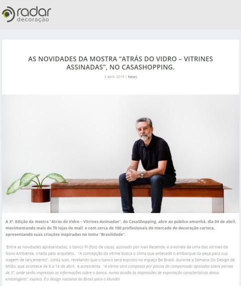 NOVO AMBIENTE no site RADAR DECORAÇAO em 03 de abril de 2019 - 2