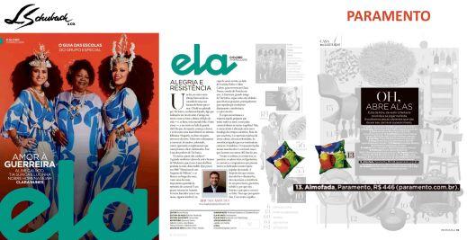 PARAMENTO na revista ELA, do Jornal O Globo, em 3 de março de 2019