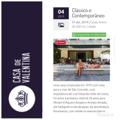 PARAMENTO no site CASA DE VALENTINA em 01 de abril de 2019