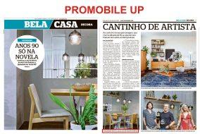 PROMOBILE UP no caderno BELA CASA do jornal EXTRA de 10 de março de 2019