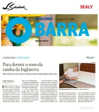 SEALY no CADERNO GLOBO BARRA, do JORNAL O GLOBO, de 26 de maio de 2019