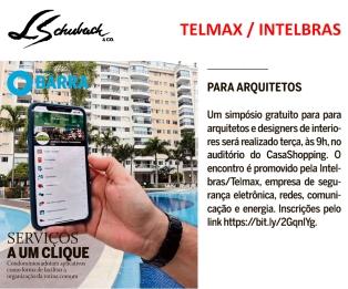 TELMAX - INTELBRAS no caderno BARRA do jornal O GLOBO, em 25 de abril de 2019