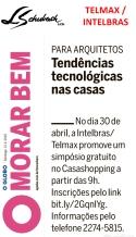 TELMAX - INTELBRAS no caderno MORAR BEM, do jornal O GLOBO, em 21 de abril de 2019