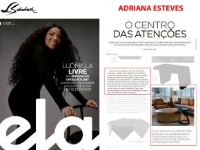 ADRIANA ESTEVES na revista ELA, do jornal O GLOBO, em 23 de junho de 2019