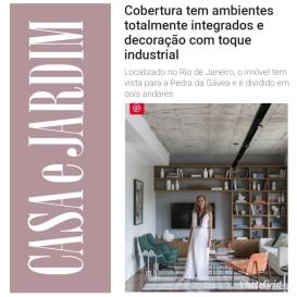 ADRIANA ESTEVES no site da CASA E JARDIM publicado em 12 de julho de 2019