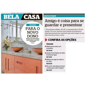 AMOEDO HOME DECOR no caderno BELA CASA do jornal EXTRA de 13 de julho de 2019