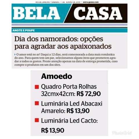 AMOEDO no BELA CASA do jornal EXTRA do dia 1 de junho de 2019
