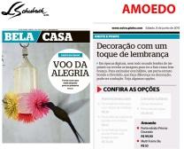 AMOEDO no caderno BELA CASA, do jornal EXTRA, em 8 de junho de 2019