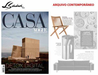 ARQUIVO CONTEMPORÂNEO na revista CASA VOGUE em julho de 2019