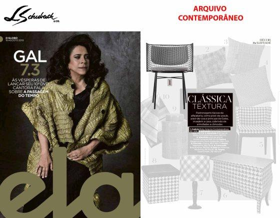 ARQUIVO CONTEMPORÂNEO na REVISTA ELA, do jornal O GLOBO, em 18 de agosto de 2019