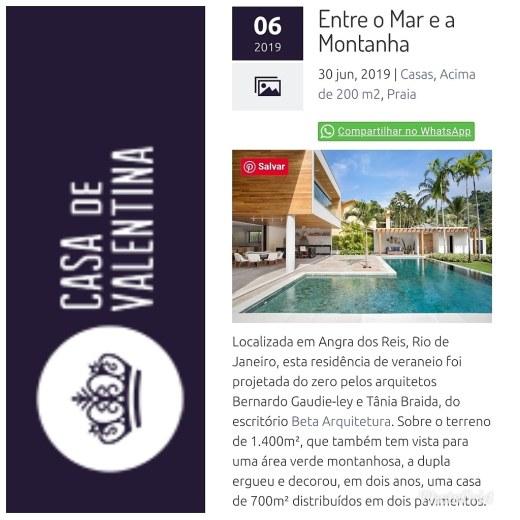 BETA ARQUITETURA no site CASA DE VALENTINA publicado em 1 de julho de 2019