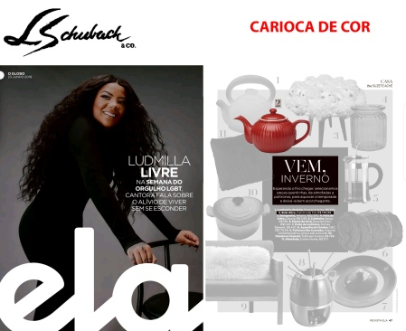 CARIOCA DE COR na REVISTA ELA do jornal O GLOBO de 23 de junho de 2019