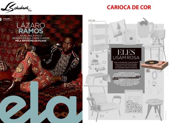 CARIOCA DE COR na revista ELA, do Jornal O Globo, em 09 de junho de 2019
