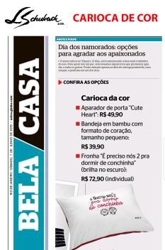 CARIOCA DE COR no BELA CASA do jornal EXTRA do dia 1 de junho de 2019