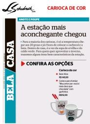 CARIOCA DE COR no caderno BELA CASA, do jornal EXTRA em 29 de junho de 2019