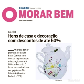 CARIOCA DE COR no caderno MORAR BEM do jornal O GLOBO de 9 de junho de 2019