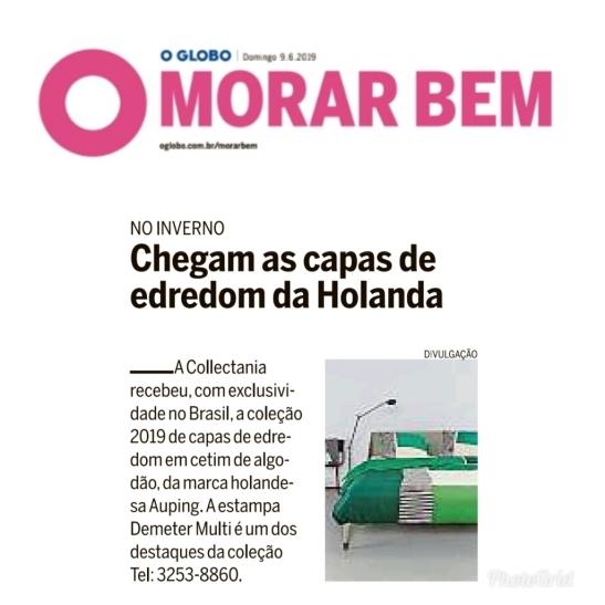 COLLECTANIA no caderno MORAR BEM do jornal O GLOBO de 9 de junho de 2019