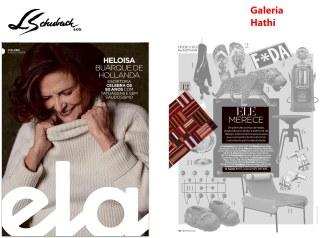 GALERIA HATHI na REVISTA ELA do jornal O GLOBO de 4 de agosto de 2019