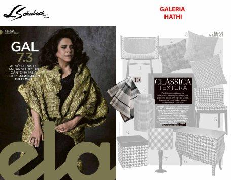 GALERIA HATHI na REVISTA ELA, do jornal O GLOBO, em 18 de agosto de 2019