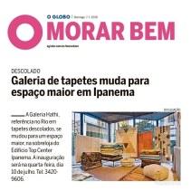 GALERIA HATHI no caderno MORAR BEM do jornal O GLOBO de 7 de julho de 2019