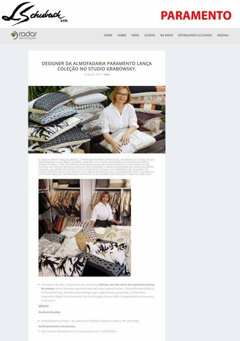 MIRIAM D'AQUINO no site RADAR DECORAÇÃO, em 12 de agosto de 2019