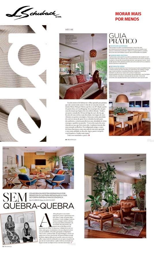 MORAR MAIS POR MENOS na revista ELA, de 4 de agosto de 2019