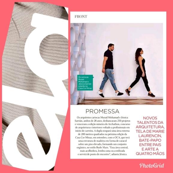 MURAD SARRIÁ na REVISTA ELA do jornal O GLOBO de 4 de agosto de 2019