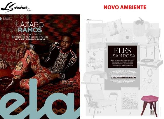 NOVO AMBIENTE na revista ELA, do Jornal O Globo, em 09 de junho de 2019