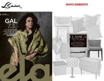 NOVO AMBIENTE na REVISTA ELA, do jornal O GLOBO, em 18 de agosto de 2019