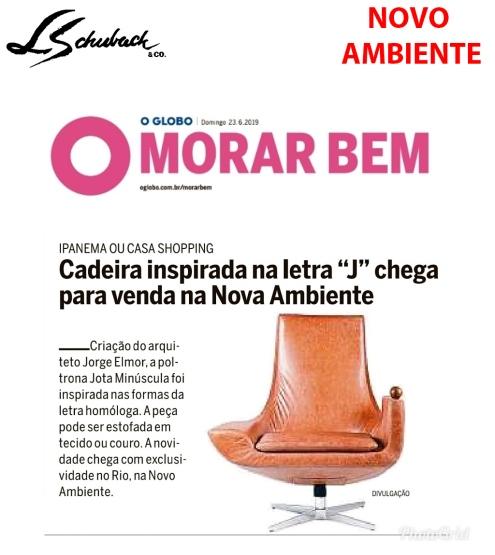 NOVO AMBIENTE no caderno MORAR BEM, do jornal O GLOBO, em 23 de junho de 2019