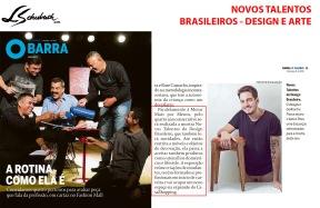 NOVOS TALENTOS BRASILEIROS no caderno BARRA, do jornal O GLOBO, em 9 de junho de 2019