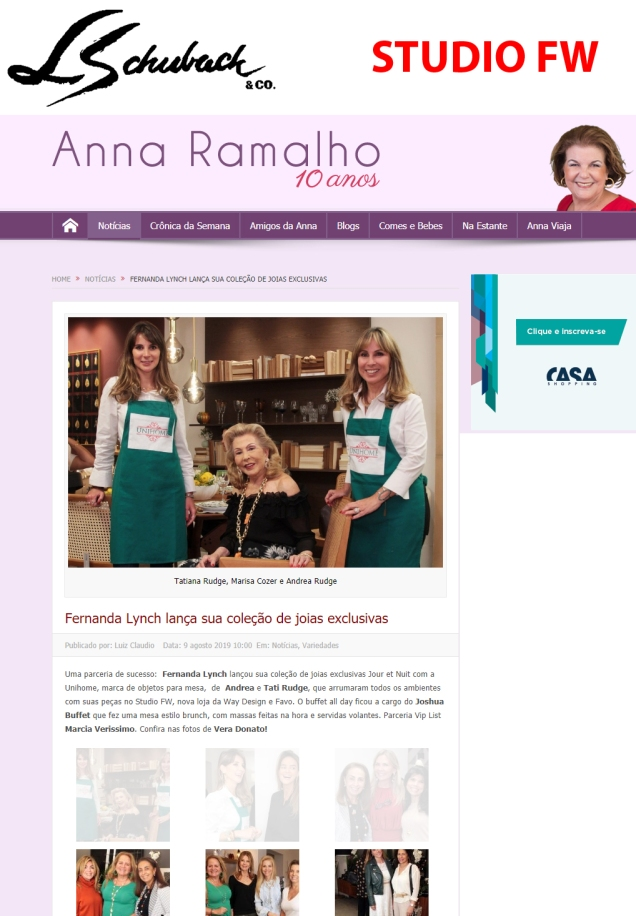 STUDIO FW no site ANNA RAMALHO, em 08 de agosto de 2019