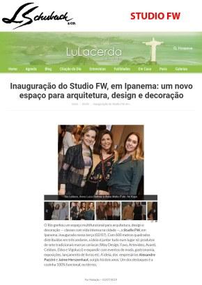 STUDIO FW no site LU LACERDA em 3 de julho de 2019