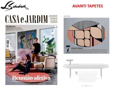 AVANTI TAPETES na revista CASA E JARDIM de setembro de 2019