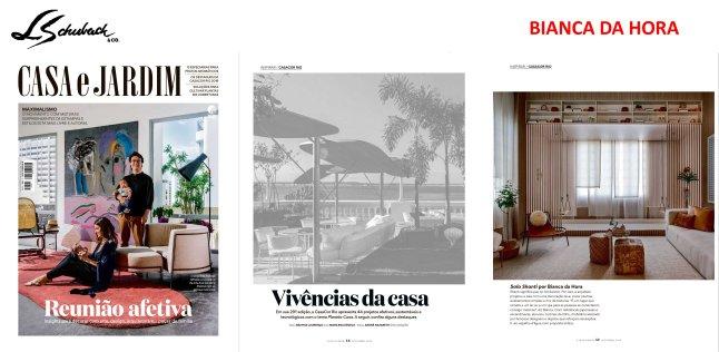 BIANCA DA HORA na revista CASA E JARDIM de setembro de 2019