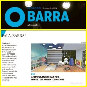 MORAR MAIS POR MENOS no caderno BARRA do jornal O GLOBO do dia 9 de junho de 2019 _ parte 1