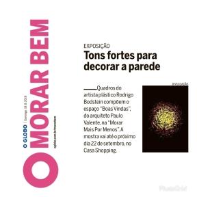 MORAR MAIS POR MENOS no caderno MORAR BEM, do jornal O GLOBO, em 18 de agosto de 2019