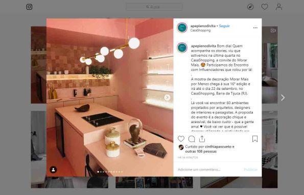 MORAR MAIS POR MENOS no instagram APEPIENODIVITA, em 15 de agosto de 2019