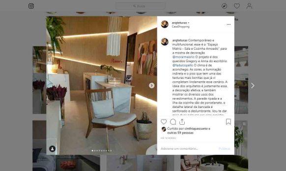 MORAR MAIS POR MENOS no instagram ARQTETURAS, em 15 de agosto de 2019
