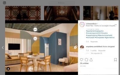 MORAR MAIS POR MENOS no instagram CONEXÃO DECOR em 22 de agosto de 2019