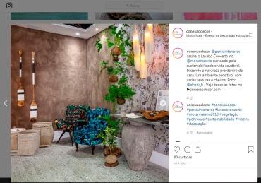 MORAR MAIS POR MENOS no instagram CONEXÃO DECOR em 23 de agosto de 2019