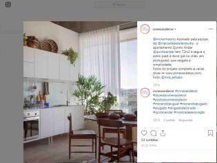 MORAR MAIS POR MENOS no instagram CONEXÃO DECOR em 29 de agosto de 2019