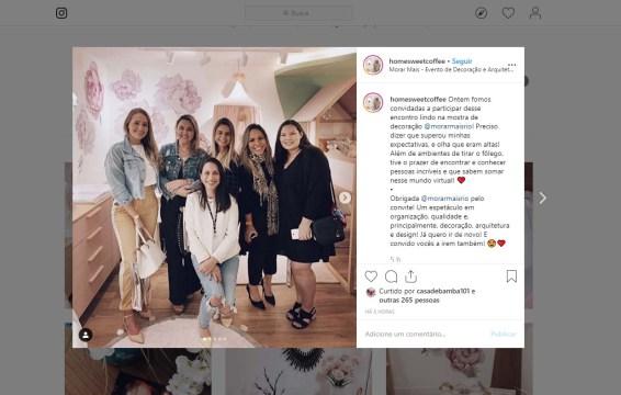 MORAR MAIS POR MENOS no instagram HOMESWEETCOFFEE em 14 de agosto de 2019