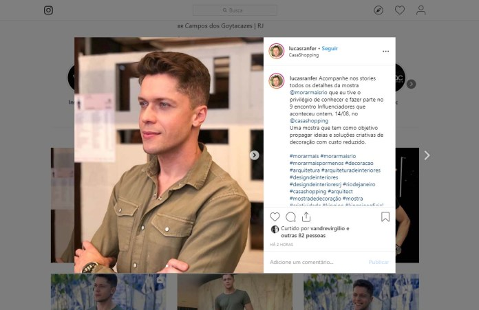 MORAR MAIS POR MENOS no instagram LUCASRANFER em 14 de agosto de 2019