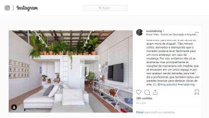 MORAR MAIS POR MENOS no instagram REVISTALIVING em 23 de agosto de 2019