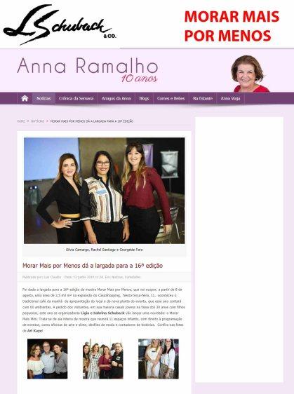 MORAR MAIS POR MENOS no site ANNA RAMALHO em 12 de junho de 2019