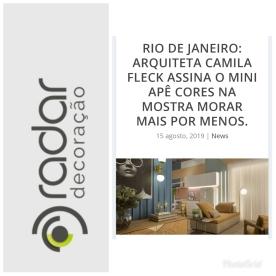 MORAR MAIS POR MENOS no site RADAR DECORAÇÃO, em 15 de agosto de 2019 (instagram)